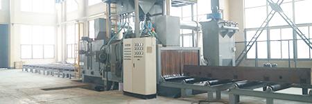 客户来厂验收钢管外壁抛丸清理机!客户的满意,是我们的宗旨!
