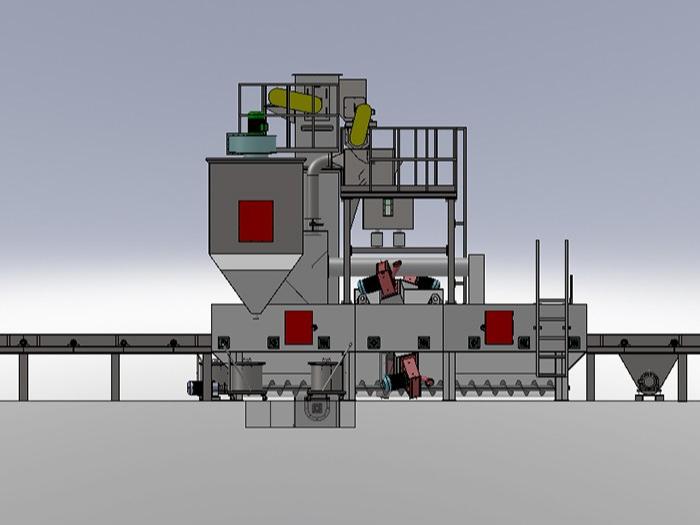 小型型材/结构件辊道通过式抛丸清理机